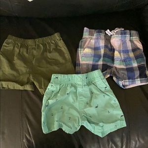 3 pairs of shorts 12 months